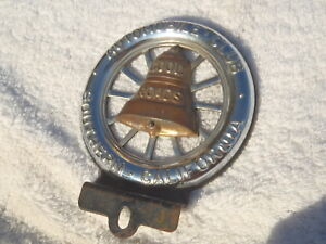 Vintage Automobile Club Southern California Tag Topper License Old Good Roads Ca