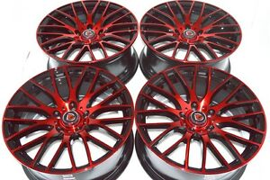 17 Red Wheels Rims Matrix Sienna Optima Legacy Camry Liberty Galant Soul 5x114 3