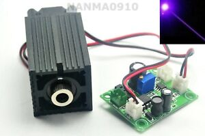 High Power 405nm Violet Blue Laser Module 200mw Diode Dot 12v Stage Lights