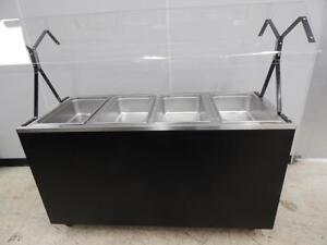 Vollrath 4 bay Electric Steam Table New Sneezeguard 38710