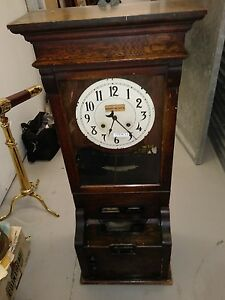 Cincinnati Time Recorder Clock Approx 47 tall