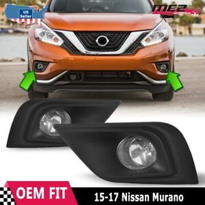 For Nissan Murano 15 17 Factory Replacement Fog Lights Wiring Kit Clear Lens