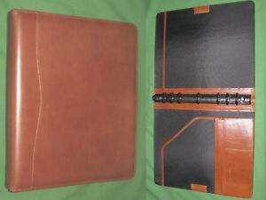 Folio 1 0 Brown Leather Day Timer Planner 8 5x11 Monarch Franklin Covey 8196