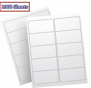 Premium 10000 2x4 Shipping Address Labels Self Adhesive 500 Sheet Laser Inkjet