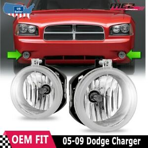 For Dodge Charger 06 09 Factory Bumper Replacement Fit Fog Lights Clear Lens