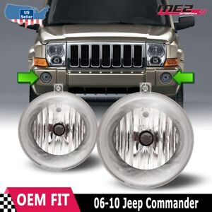 For Jeep Commander 06 10 Factory Bumper Replacement Fit Fog Lights Clear Lens