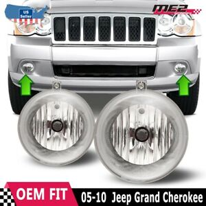 For Jeep Grand Cherokee 05 10 Bumper Replacement Fit Fog Lights Dot Clear Lens
