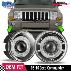 For Jeep Commander 06 10 Factory Replacement Halo Projector Fog Light Clear Lens