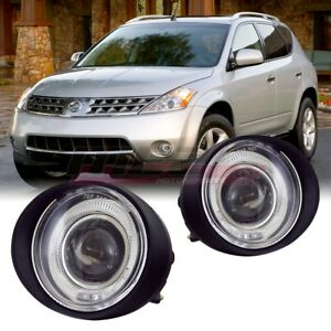 For Nissan Murano 03 07 Factory Replacement Halo Projector Fog Lights Clear Lens