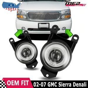 Gmc Sierra 01 06 Oe Style Replacement Fit Halo Fog Lights Clear Lens