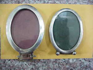 101 Lot 2 Vintage Oval Sterling Silver 2 Ounce Picture Frames