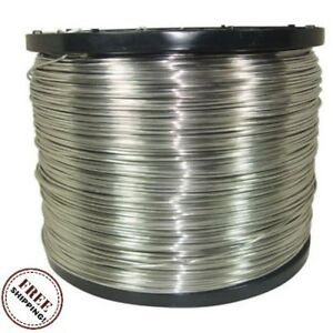 Electric Fence Wire Outdoor Farms 1 4 miles 12 5 gauge Aluminum Farm Fencing