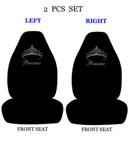 Car Truck Seat Covers Design Rhinestone Studded Universal High Back Seat Covers