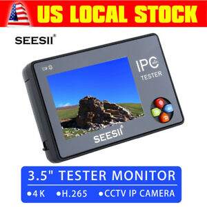 Hd 3 5 Lcd Audio Video Security Tester Cctv Ip Camera Test Monitor With Cable