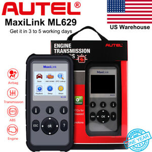 Autel Ml629 Obd2 Diagnostic Tool Can Code Scanner Abs Srs Transmission As Md802
