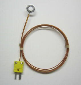 Surface Mount K type Thermocouple Wire Probe High Temperature Kapton Insulation