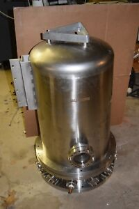 Kurt J Lesker Stainless Steel Vacuum Bell Jar W Feedthrough Collar