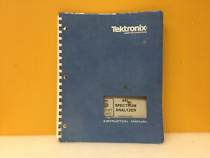 Tektronix 070 2726 01 492 Spectrum Analyzer Instruction Manual
