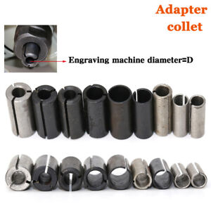 9 Pcs lot High Precision Adapter Collet Shank Cnc Router Tool Adapters Holder