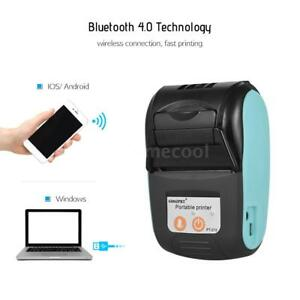 Mini Wireless 58mm Portable Bt Thermal Printer Receipt F android Ios Mobile W2o3