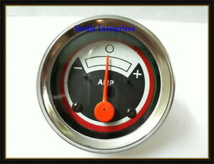 158583a New White Oliver Tractor Ammeter Gauge White Black Red Face 1550 1555