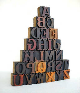 A To Z Vintage Letterpress Alphabets Wood Type Collection Vg01