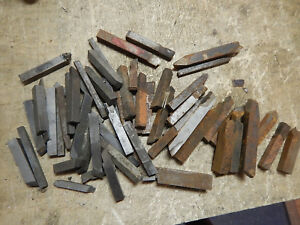 New And Used Older 3 8 7 16 Metal Lathe Tool Bit Stock Some Carbide Tipped