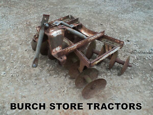 3 Point Hitch Lawn Tractor Mower Double Gang Disc Harrow