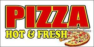 choose Your Size Pizza Hot Fresh Decal Food Truck Concession Vinyl Sticker