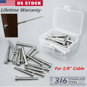 Stainless Steel Invisible Receiver Stud Swage End Fitting 1 8 Cable Railing