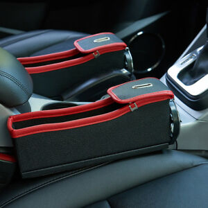 Pu Leather Console Side Pocket Organizer Car Seat Catcher W Cup Holder Right