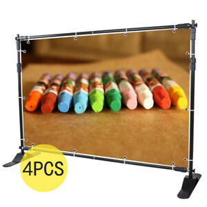 4 banner Stand 10 X 8 Adjustable Step And Repeat Promotion Telescopic Backdrop