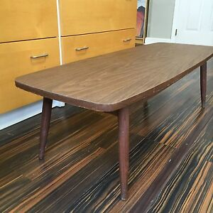 Long Low Danish Modern Mid Century Coffee Table Eames Era