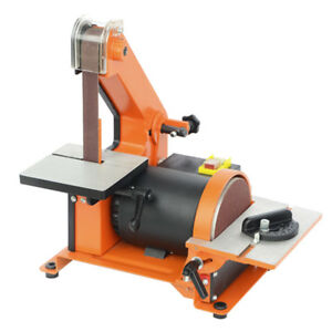 Bench Top Belt Sander & Disc Sander Combination Sanding Power Tool 220V