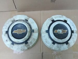 2 Two 69 72 Chevrolet C30 Pickup Truck Dog Dish Hubcap Wheel Covers