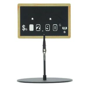 Plastic Deli Tag With Price Dials 2 5 h X 4 l chalkboard Look 5 Pieces best Deal