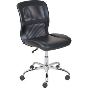 Vinyl And Mesh Task Computer Armless Chair Padded Seat Work Desk Office