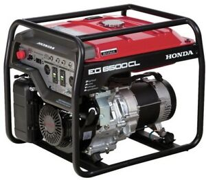 Honda 5500 watt Gasoline Powered Portable Generator With Gfci Duplex Outlet And