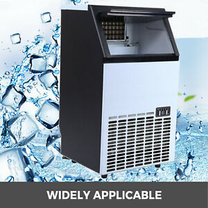 Commercial Ice Cube Maker Machine Auto Built in Cube Stainless Steel Ice Maker