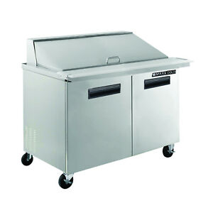 Maxx Cold Mxcr48m 48 Commercial Megatop Salad And Sandwich Prep Table Cooler