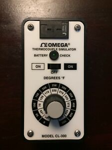 Omega J Thermocouple Simulator Cl 300 500c