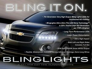 2013 2014 2015 Holden Trax Led Drl Head Light Strips Day Time Running Lamps Kit