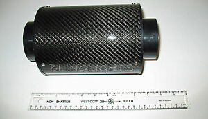 Universal Cold Air Intake Carbon Fiber Heat Shield With Internal Filter Element