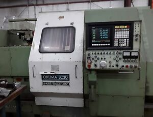 Okuma Lc30 Cnc 4 Axis Lathe Excellent Condition Under Power Video Added 2 19
