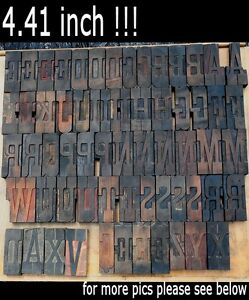 Letterpress Wood Printing Blocks 60 Pieces 4 41 Tall Alphabet Type Woodtype Abc