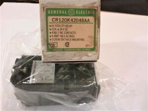 New Ge Hi Fidelity Latching Relay Cr120k42048aa Relay