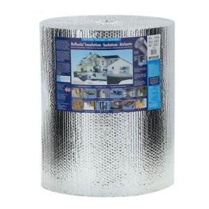 Double Reflective Insulation Barrier Radiant Foil Floor Attic Walls 24in X 100ft