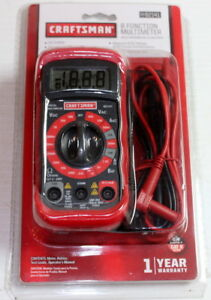 Craftsman 34 82141 Digital Multimeter With 8 Functions And 20 Ranges New Sealed