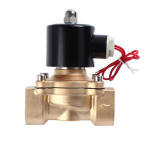 1 bsp 2w250 25 Brass Electric Solenoid Valve For Water Air Oil Nc