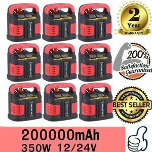 Lot 10 Battery Charger Air Compressor Auto Jump Starter Booster Portable Power